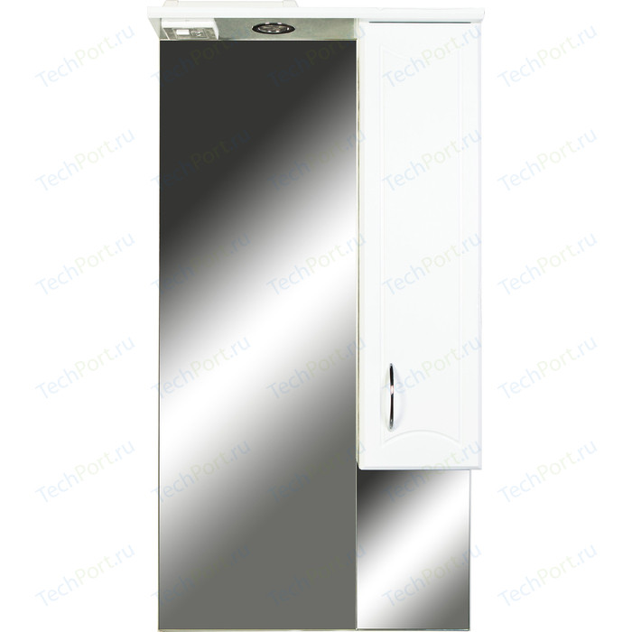 Зеркало-шкаф Orange Стиль 55 с подсветкой, белый, правый (St-55ZS)