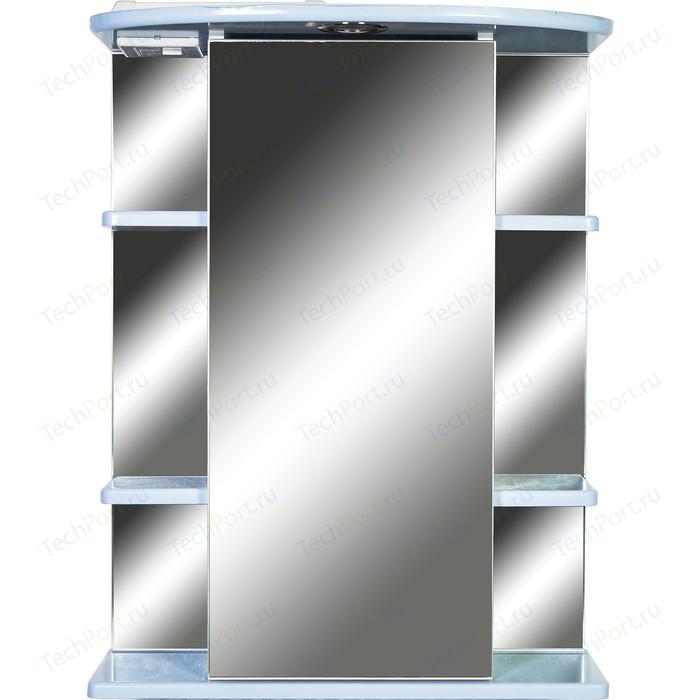 Зеркало-шкаф Orange Кларис 55 с подсветкой, голубое, правый (KL-55ZSB)