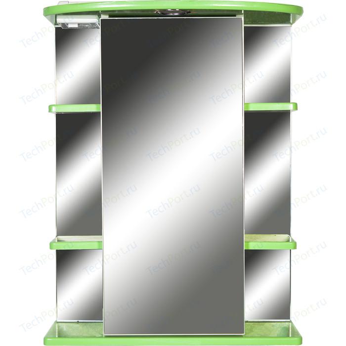 Зеркало-шкаф Orange Кларис 55 с подсветкой, салатовое, правый (Kl-55ZSL)