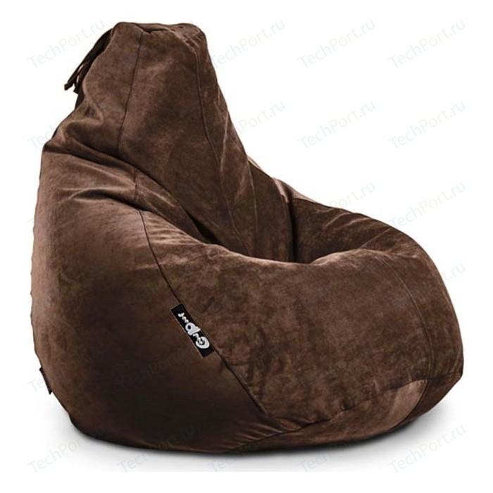 Кресло мешок GoodPoof Груша велюр шоколад XL