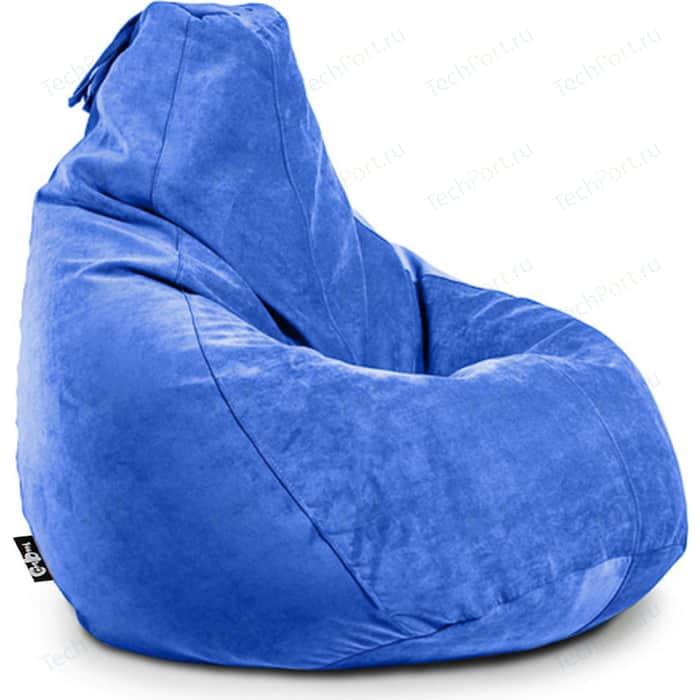 Кресло мешок GoodPoof Груша велюр индиго XL