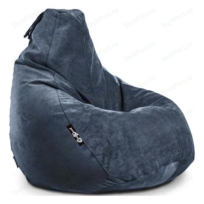 Кресло мешок GoodPoof Груша велюр сапфир XL