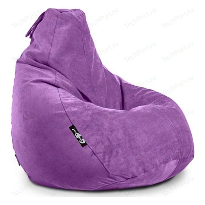 Кресло мешок GoodPoof Груша велюр фиалка XL