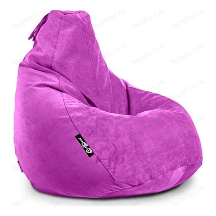 Кресло мешок GoodPoof Груша велюр фуксия XL