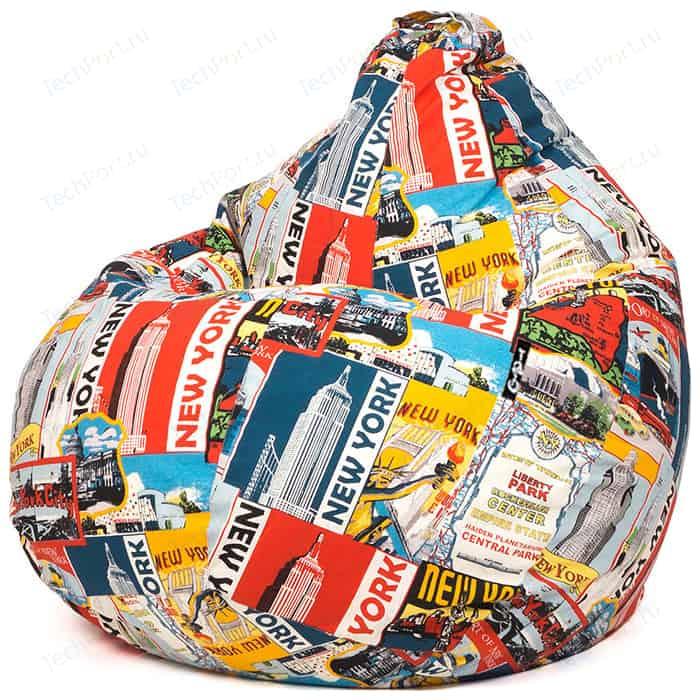 Кресло мешок GoodPoof Груша жаккард Нью-Йорк XL