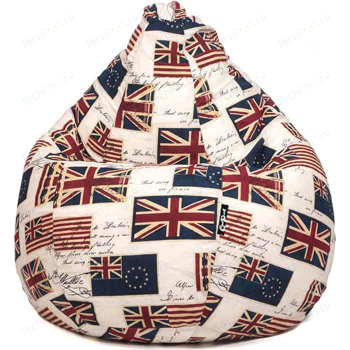 Кресло мешок GoodPoof Груша жаккард флаги XL