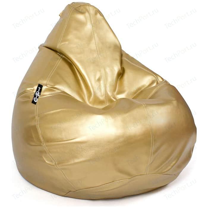 Кресло мешок GoodPoof Груша экокожа премиум золотая XXL