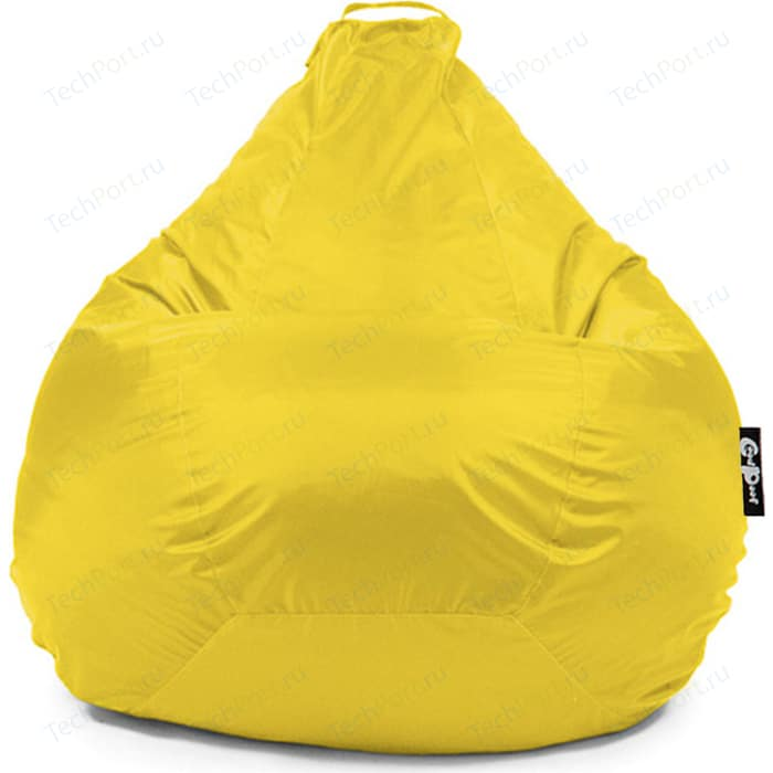 Кресло мешок GoodPoof Груша оксфорд желтый XXL
