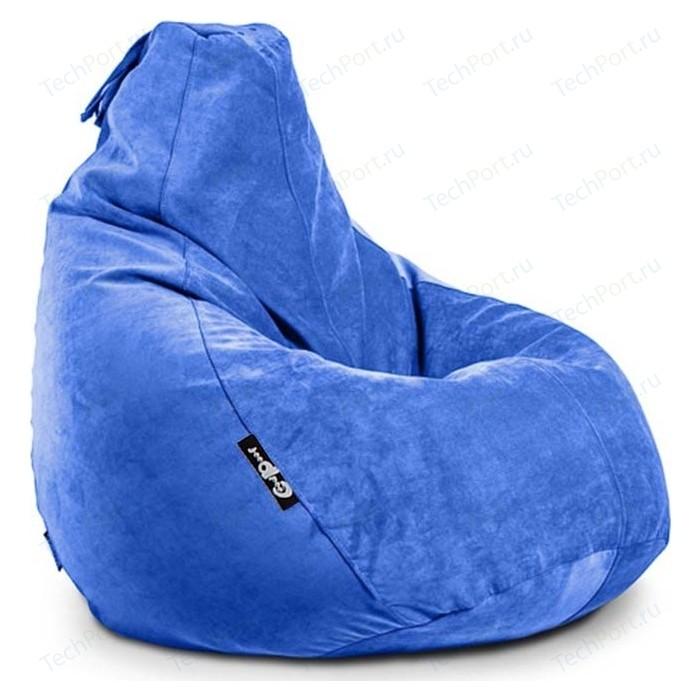 Кресло мешок GoodPoof Груша велюр индиго 3XL