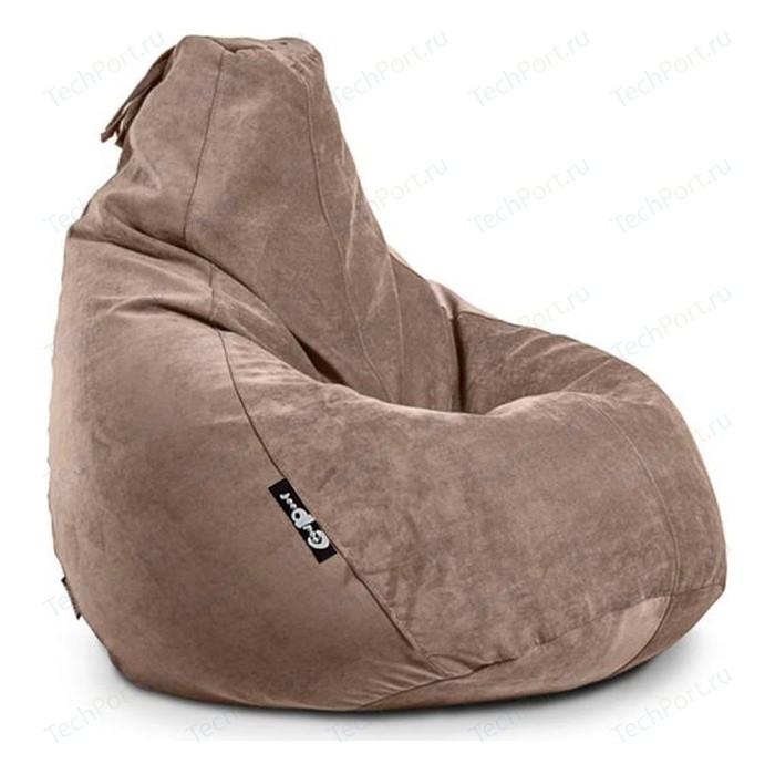 Кресло мешок GoodPoof Груша велюр капучино 3XL