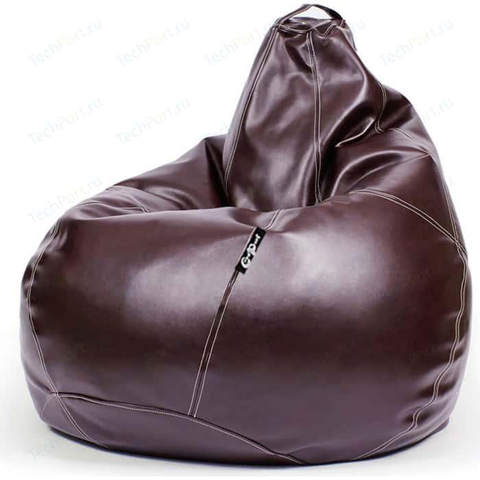 Кресло мешок GoodPoof Груша экокожа премиум бордо 3XL
