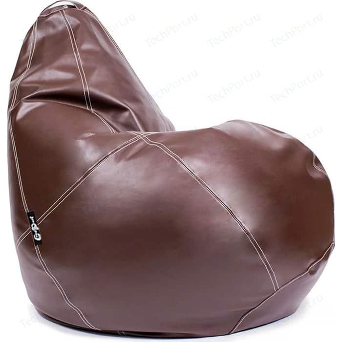 Кресло мешок GoodPoof Груша экокожа премиум коричневая 3XL