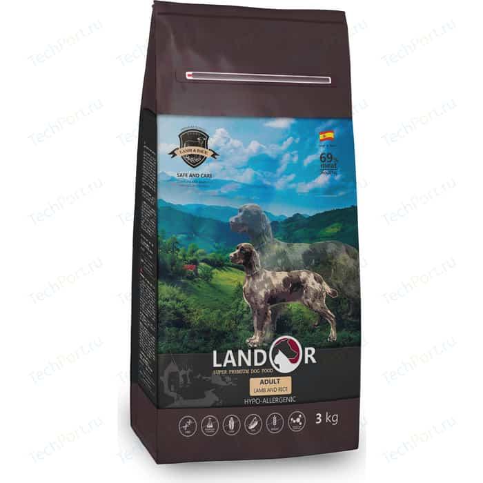 Сухой корм LANDOR Adult Dog Lamb and Rice гипоаллергенный с ягненком и рисом для взрослых собак всех пород 3кг