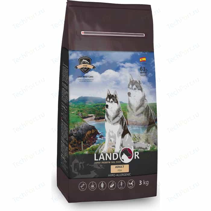 Сухой корм LANDOR Adult Dog Fish гипоаллергенный с морской рыбой и рисом для взрослых собак всех пород 1кг