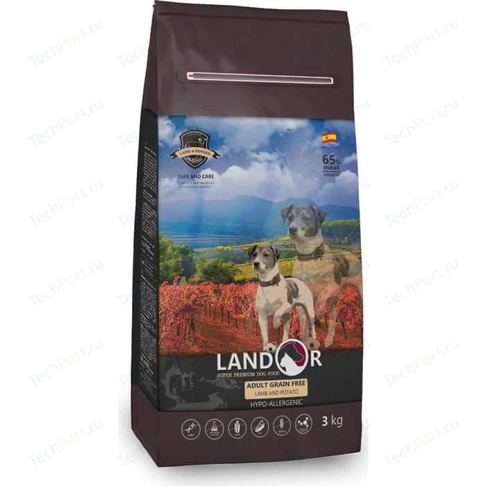 Сухой корм LANDOR Adult Dog Grain Free Lamb and Potato беззерновой гипоаллергенный с ягненком и картофелем для взрослых собак всех пород 1кг