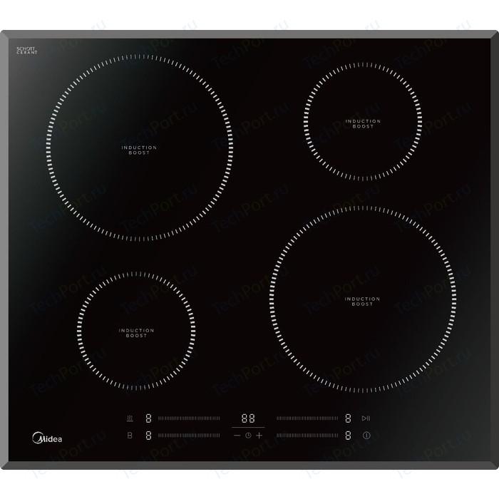 Индукционная варочная панель Midea MIH65742F варочная панель midea q452sfd bl black