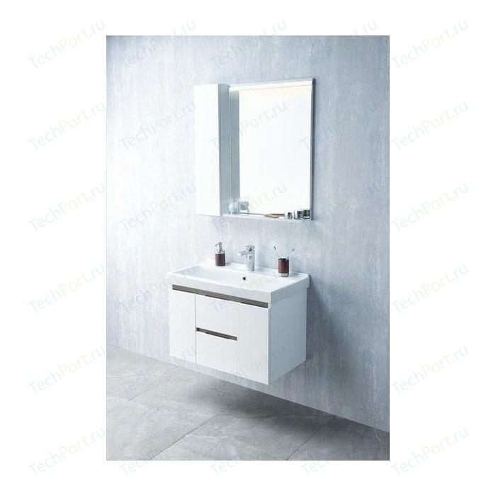 Мебель для ванной Акватон Рене 80 белый/грецкий орех