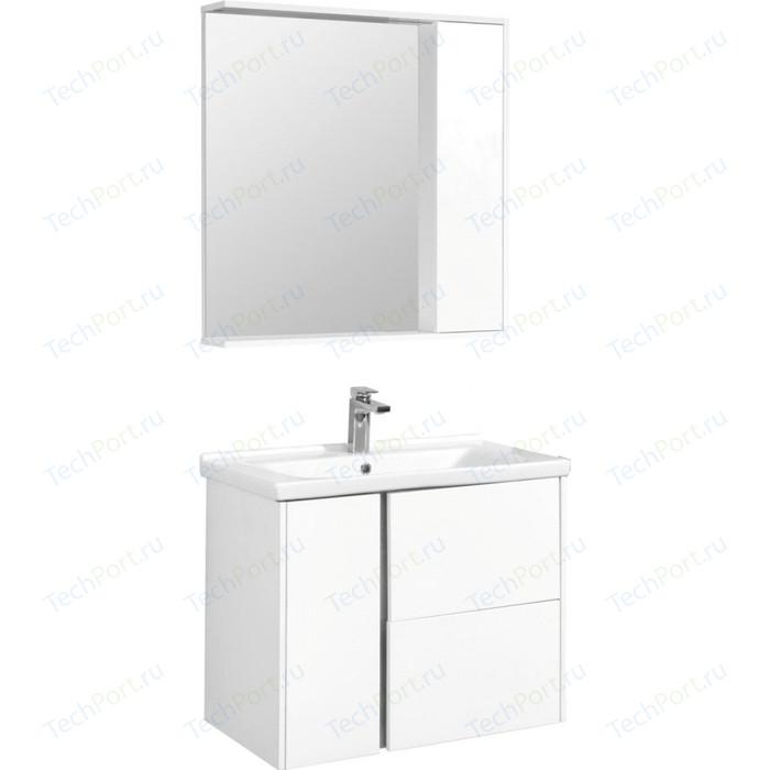 Мебель для ванной Акватон Стоун 80 белый глянец