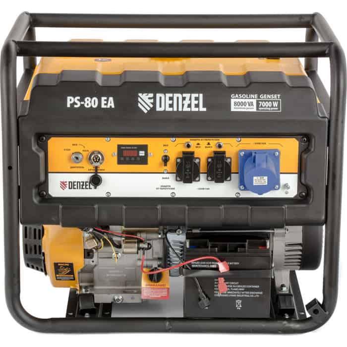 Генератор бензиновый DENZEL PS 80 EA (946924)