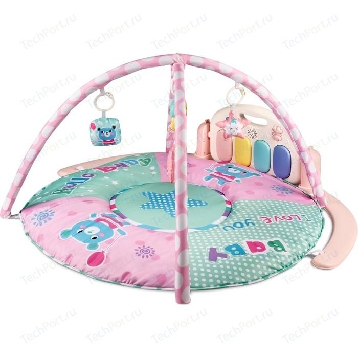 Развивающий коврик для детей AmaroBaby SPLENDID BEAR, 95x95x45 (МЕДВЕДЬ) розовый