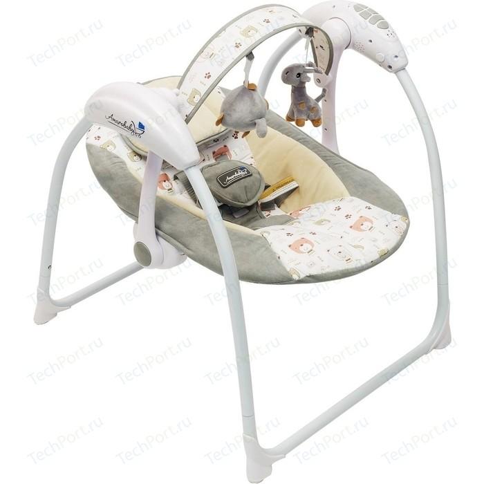 Электронные качели AmaroBaby Swinging Baby GRAY (серый)