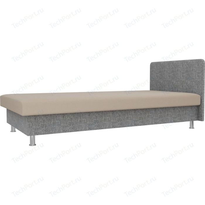 Кровать Лига Диванов Мальта рогожка бежевый/серый