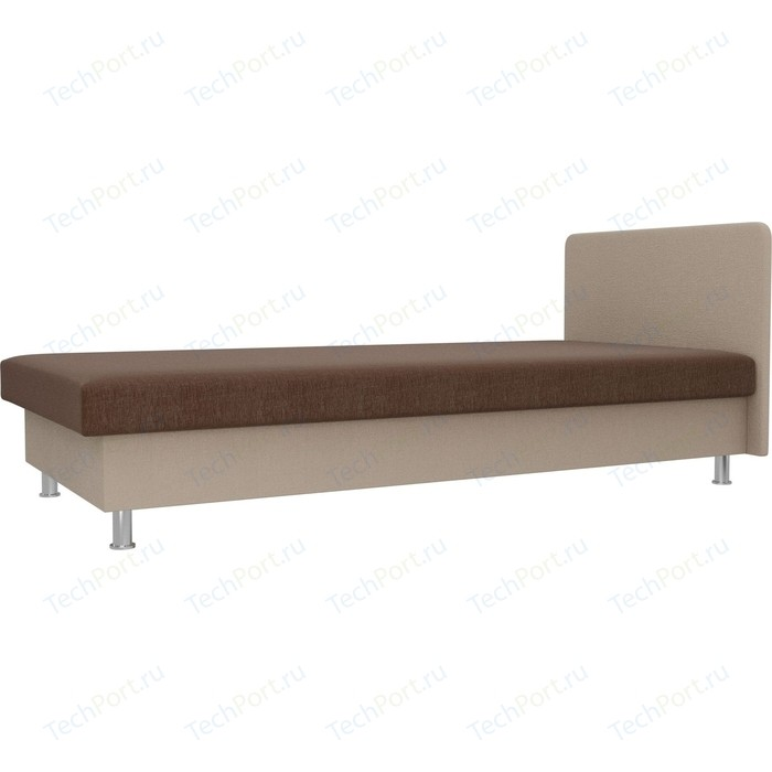 Кровать Лига Диванов Мальта рогожка коричневый/бежевый