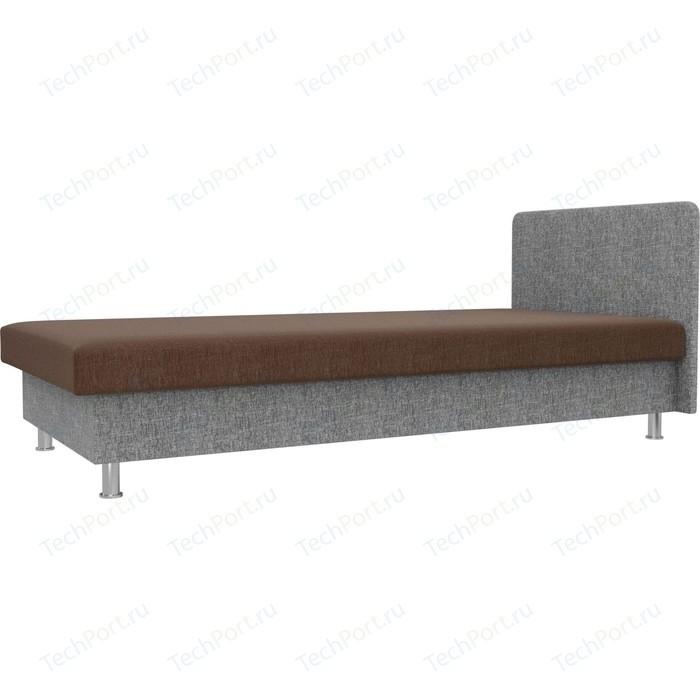 Кровать Лига Диванов Мальта рогожка коричневый/серый