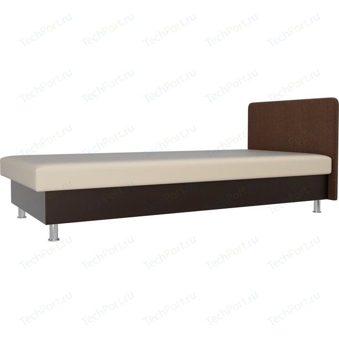 Кровать Лига Диванов Мальта экокожа бежевый/коричневый