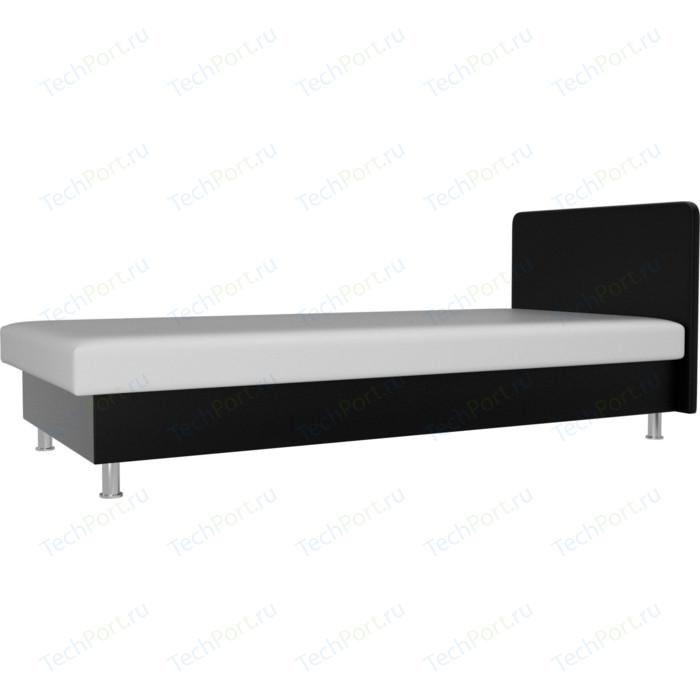 Кровать Лига Диванов Мальта экокожа белый/черный