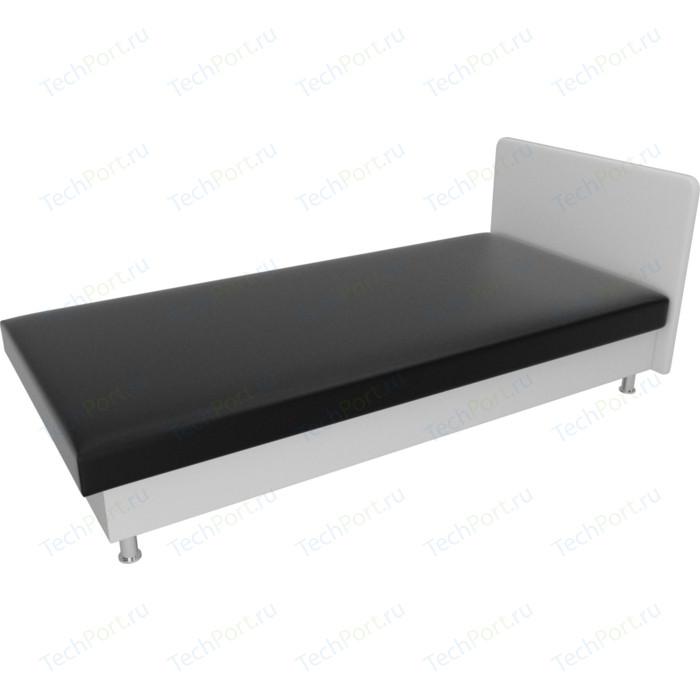 Кровать Лига Диванов Мальта экокожа черный/белый