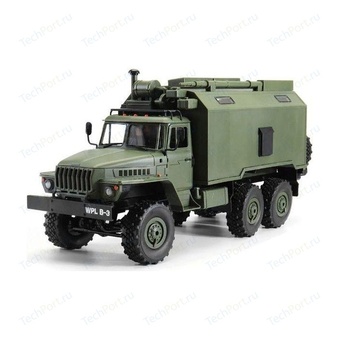 Радиоуправляемый внедорожник Aosenma Советский военный грузовик Урал 4WD RTR масштаб 1-16 2.4G - WPLB-36