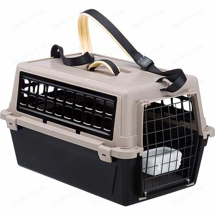 Переноска Ferplast ATLAS 10 TRENDY Plus черная для кошек и собак мелких пород (73027099)