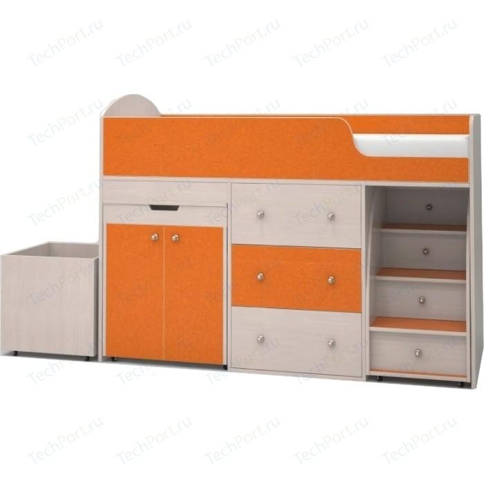 Кровать чердак Ярофф Малыш 70x160 дуб молочный/оранжевый кровать чердак ярофф малыш 80x180 дуб молочный ирис