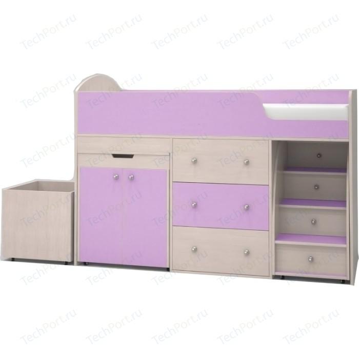 Кровать чердак Ярофф Малыш 70x160 дуб молочный/ирис