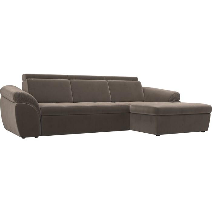 Фото - Угловой диван Лига Диванов Мисандра велюр коричневый правый угол чехол на угловой диван еврочехол микрофибра правый угол цвет кофейный