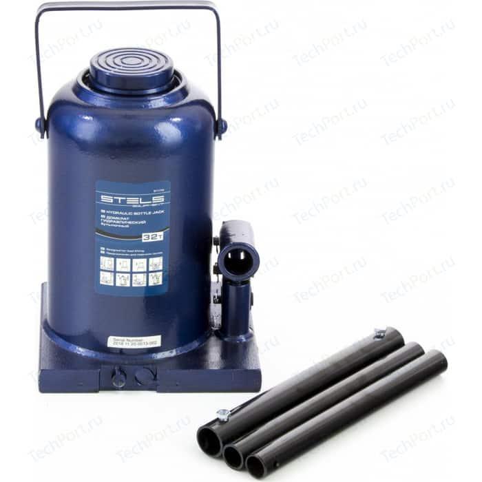 Домкрат гидравлический бутылочный Stels 32 т, h подъема 260-420 мм (51170)