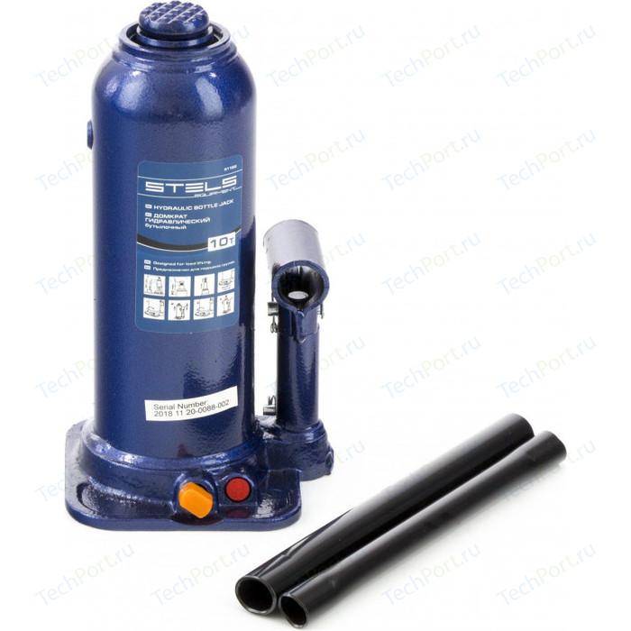Домкрат гидравлический бутылочный Stels 10 т, h подъема 222-447 мм (51166)