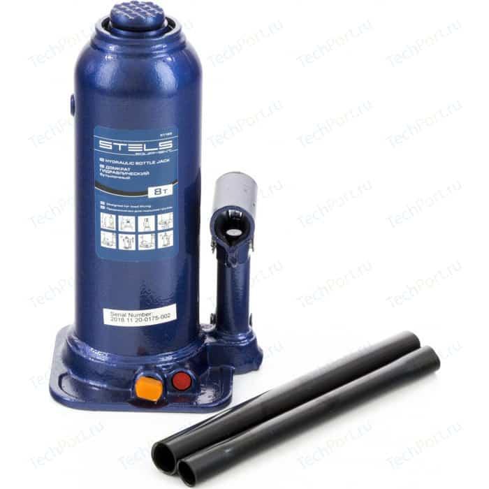 Домкрат гидравлический бутылочный Stels 8 т, h подъема 222-447 мм (51165)