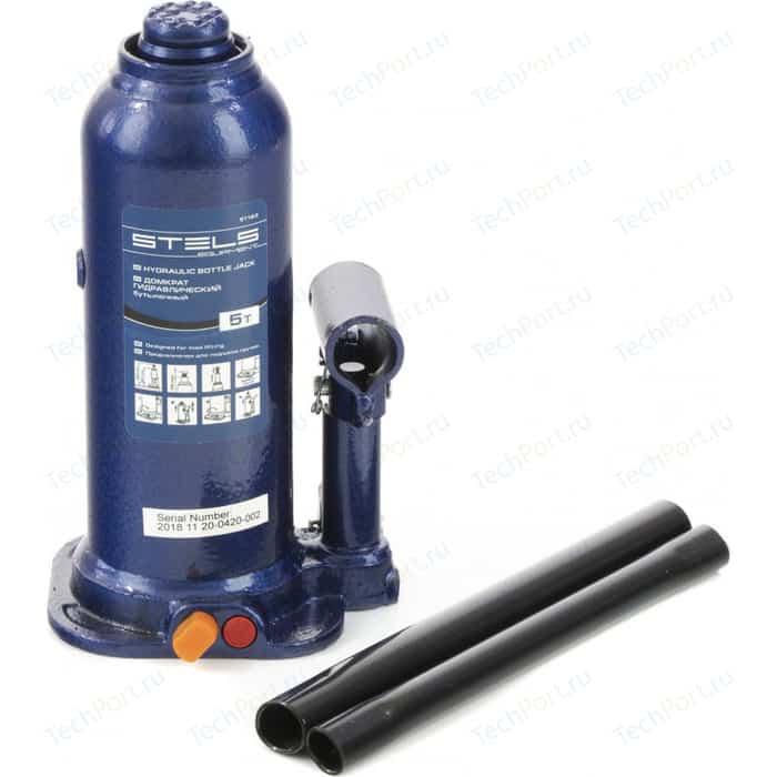 Домкрат гидравлический бутылочный Stels 5 т, h подъема 207-404 мм (51163)