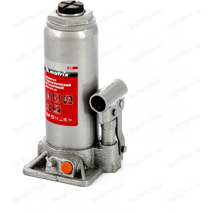 Домкрат гидравлический бутылочный Matrix 8 т, h подъема 230-457 мм (50766)