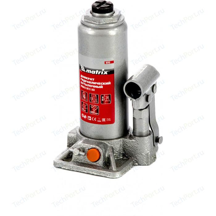 Домкрат гидравлический бутылочный Matrix 4 т, h подъема 194-372 мм (50763)