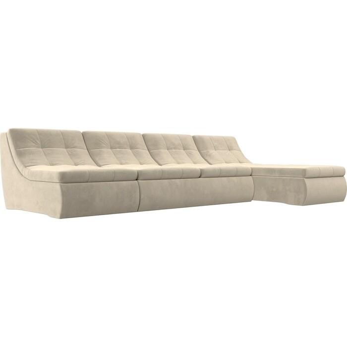 Фото - Угловой модульный диван Лига Диванов Холидей микровельвет бежевый угловой модульный диван лига диванов холидей экокожа бежевый