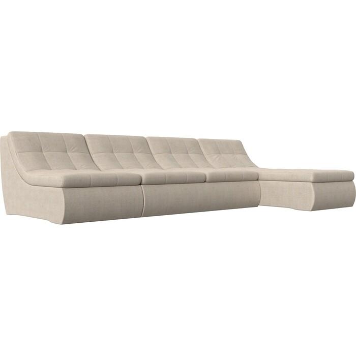 Фото - Угловой модульный диван Лига Диванов Холидей рогожка бежевый угловой модульный диван лига диванов холидей экокожа бежевый