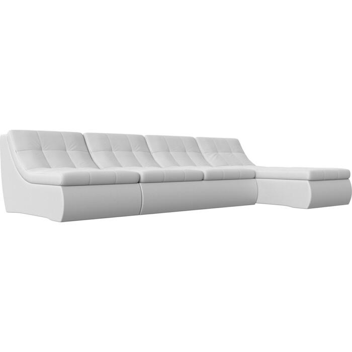 Фото - Угловой модульный диван Лига Диванов Холидей экокожа белый угловой модульный диван лига диванов холидей экокожа бежевый