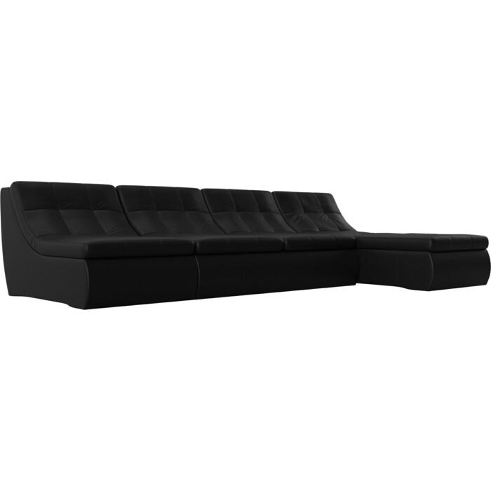 Фото - Угловой модульный диван Лига Диванов Холидей экокожа черный угловой модульный диван лига диванов холидей экокожа бежевый