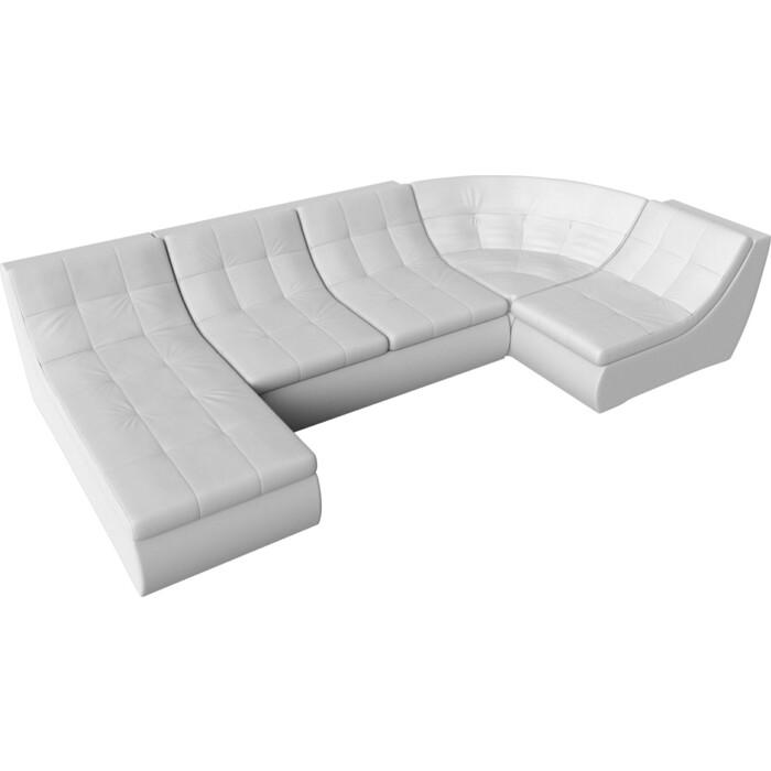 Фото - Модульный диван Лига Диванов Холидей экокожа белый п-образный угловой модульный диван лига диванов холидей экокожа бежевый