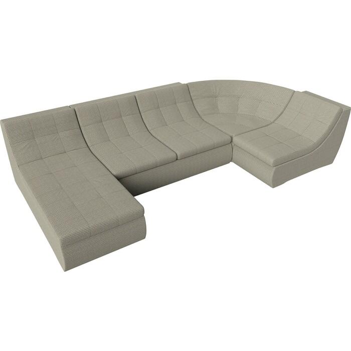 Модульный диван Лига Диванов Холидей корфу 02 п-образный диван п образный лига диванов бостон велюр mr коричневый