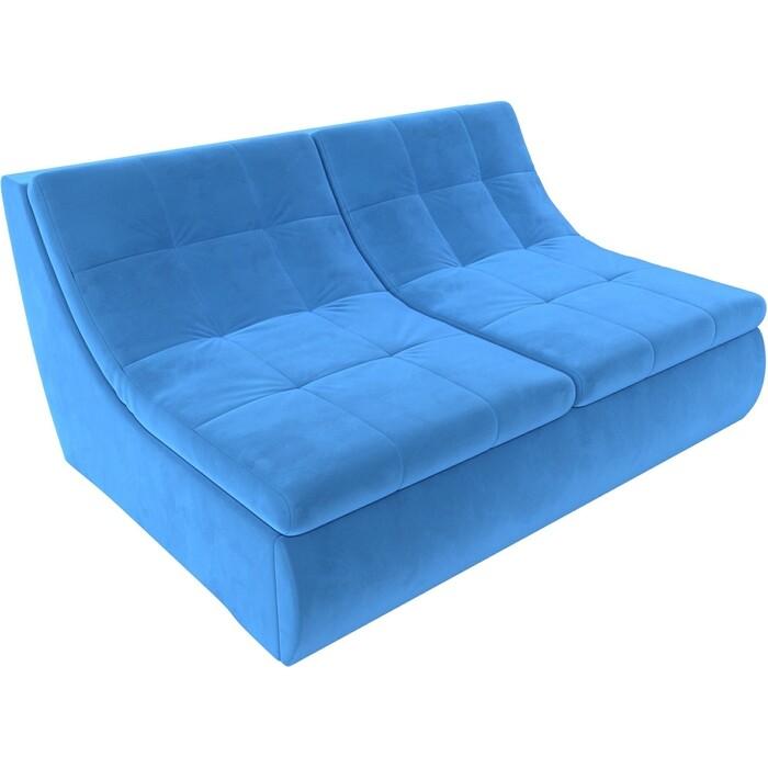 Модуль Лига Диванов Холидей раскладной диван велюр голубой
