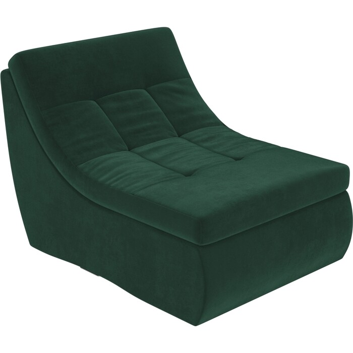 Модуль Лига Диванов Холидей кресло велюр зеленый